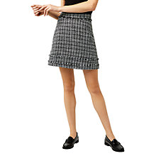 Buy Warehouse Tweed Pelmet Skirt, Black Pattern Online at johnlewis.com