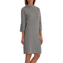 Buy Betty & Co. Knitted Bell Sleeve Dress, Light Grey Melange Online at johnlewis.com