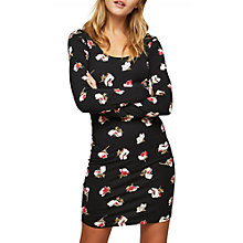 Buy Miss Selfridge Long Sleeve Printed Dress, Multi Online at johnlewis.com