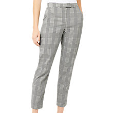 Buy Warehouse Check Tailored Trousers, Black/White Online at johnlewis.com