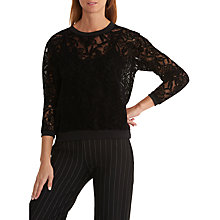 Buy Betty & Co. Devoré Lace Top, Black Online at johnlewis.com