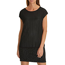 Buy Betty & Co Layered Jersey Top, Black Online at johnlewis.com
