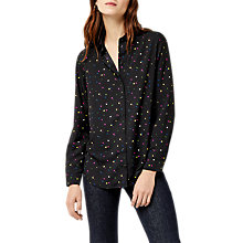 Buy Warehouse Heart Print Shirt, Black Pattern Online at johnlewis.com
