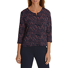 Buy Betty & Co. Floral Print Jacket, Blue/Dark Red Online at johnlewis.com