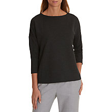 Buy Betty & Co Flared Jersey Top, Black Online at johnlewis.com
