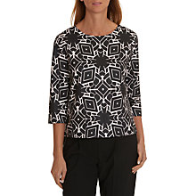 Buy Betty & Co. Monochrome Print Top, Black/Cream Online at johnlewis.com