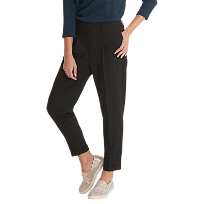 Betty & Co. Crepe Tailored Trousers, Black