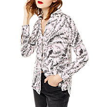 Buy Warehouse Fern Print Shirt, Neutral Print Online at johnlewis.com
