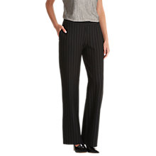 Buy Betty & Co. Jersey Pinstripe Trousers, Black/Cream Online at johnlewis.com