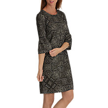 Buy Betty & Co. Stretch Paisley Dress, Grey/Cream Online at johnlewis.com