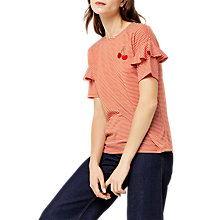 Buy Warehouse Embroidered Stripe T-Shirt Online at johnlewis.com