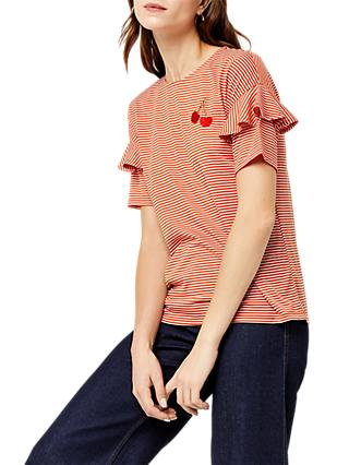 Warehouse Embroidered Stripe T-Shirt