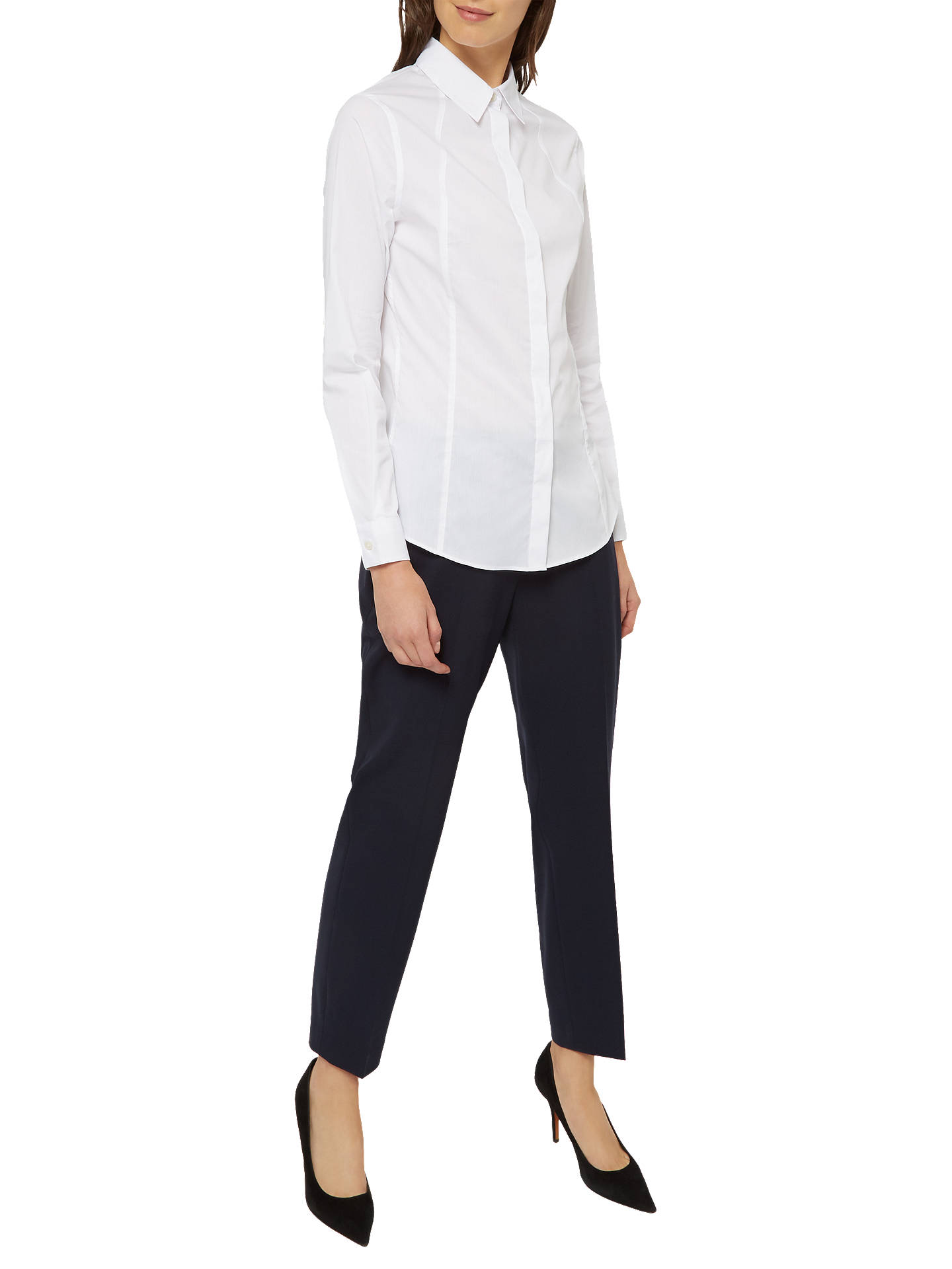 BuyJaeger Slim Fit Classic Long Sleeve Shirt, White, 6 Online at johnlewis.com