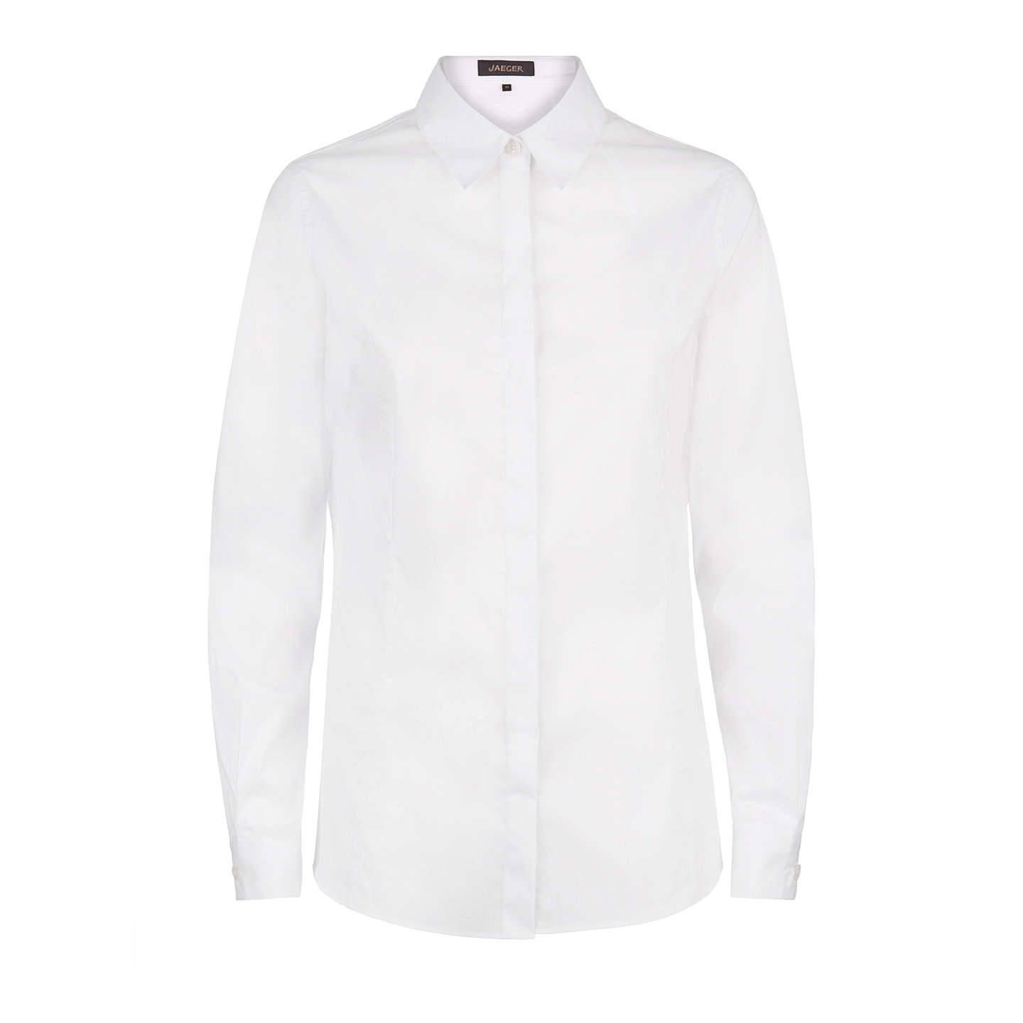 BuyJaeger Slim Fit Classic Long Sleeve Shirt, White, 10 Online at johnlewis.com