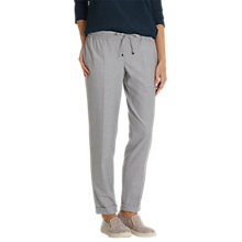 Buy Betty & Co. Sporty Tailored Trousers, Light Grey Melange Online at johnlewis.com