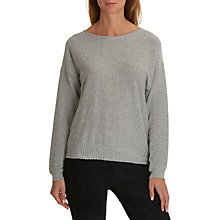 Buy Betty & Co Fine Knit Jumper, Light Grey Melange Online at johnlewis.com