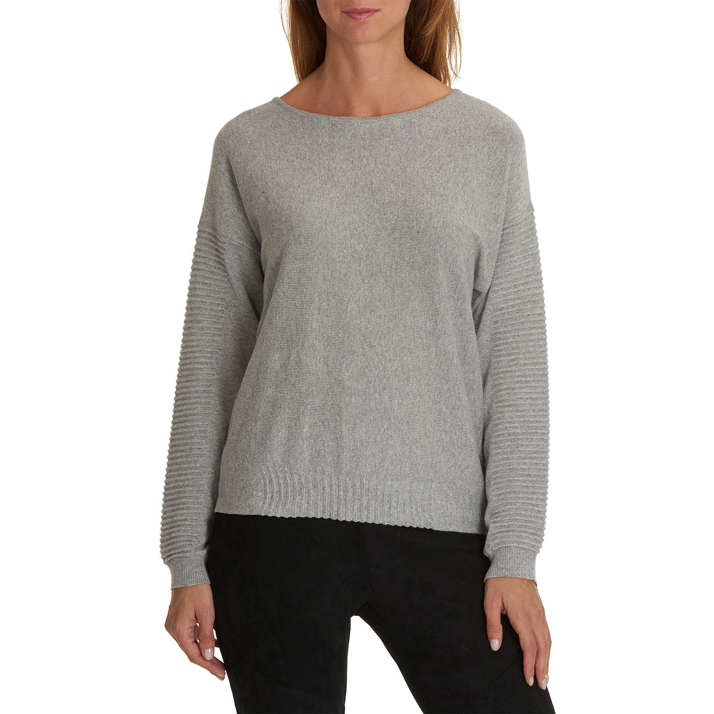 BuyBetty & Co Fine Knit Jumper, Light Grey Melange, 14 Online at johnlewis.com