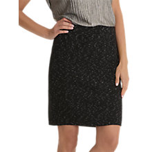Buy Betty & Co. Textured Jersey Skirt, Black/Cream Online at johnlewis.com
