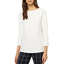 Buy Jaeger Raglan Sleeve Jersey Top, Ivory Online at johnlewis.com