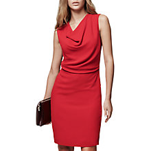 Buy Reiss Marie Cowl Neck Shift Dress, Maraschino Online at johnlewis.com