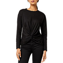 Buy Warehouse Long Sleeve Knot Front Top Online at johnlewis.com