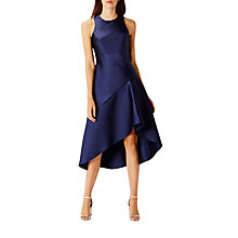 Buy Coast Cara Satin Dress, Navy Online at johnlewis.com