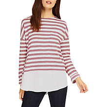 Buy Phase Eight Sian Stripe Top, Pecan/Ivory Online at johnlewis.com