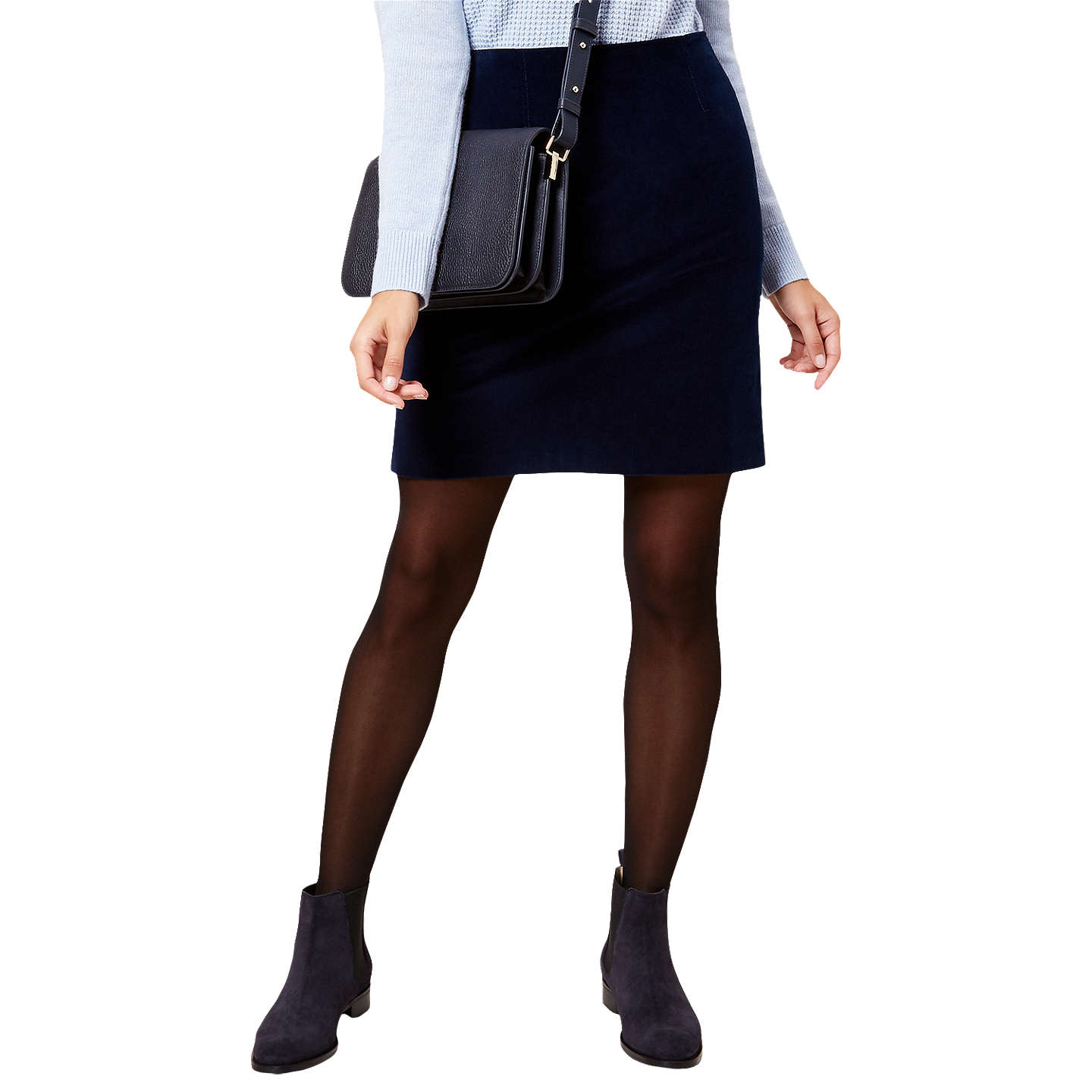 BuyHobbs Elsie A-Line Skirt, Storm Blue, 14 Online at johnlewis.com