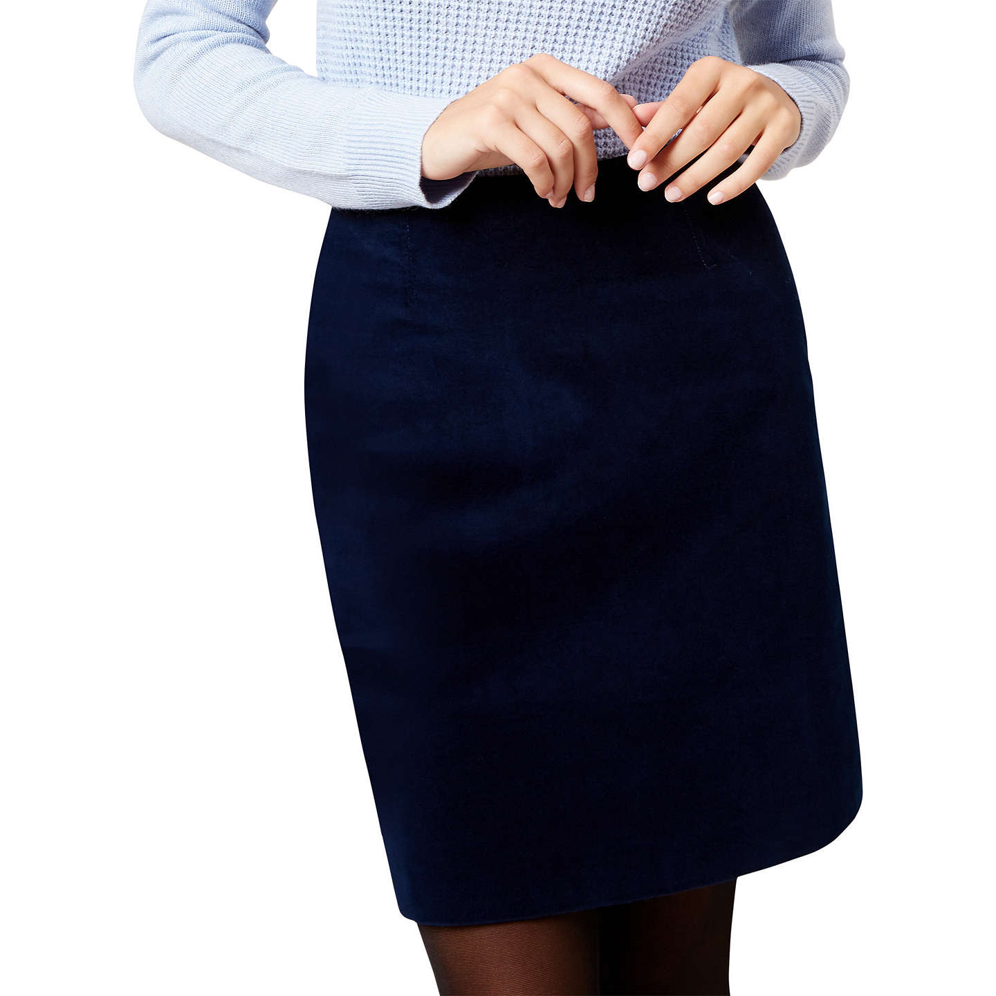 BuyHobbs Elsie A-Line Skirt, Storm Blue, 6 Online at johnlewis.com
