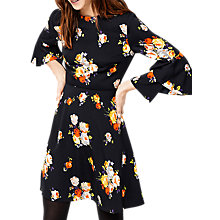 Buy Warehouse Victoria Floral Babydoll Dress, Navy Online at johnlewis.com