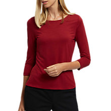 Buy Jaeger Essential Jersey Top, Red Online at johnlewis.com