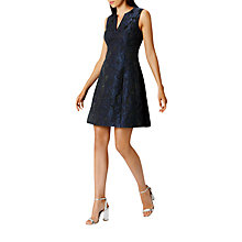 Buy Coast Jocelyn Jacquard Mini Dress, Navy Online at johnlewis.com