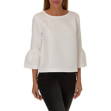 Buy Betty & Co. Bell Sleeve Textured Top, Snow White Online at johnlewis.com