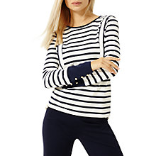 Buy Damsel in a dress Striped Long Sleeve Top, Navy/Ivory Online at johnlewis.com