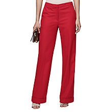 Buy Reiss Carla Wool Blend Wide Leg Trousers, Maraschino Online at johnlewis.com