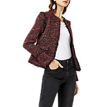 Buy Warehouse Victoria Tweed Jacket, Bright Red Online at johnlewis.com