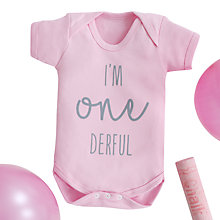 Buy My 1st Years Baby Birthday Bodysuit, Pink Online at johnlewis.com