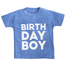 Buy My 1st Years Children's Birthday T-Shirt, Blue Online at johnlewis.com