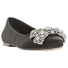 Buy Dune Bluebelle Embellished Bow Pumps, Black Online at johnlewis.com