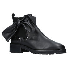 Buy Kurt Geiger Dazel Bow Trim Ankle Chelsea Boots, Black Online at johnlewis.com