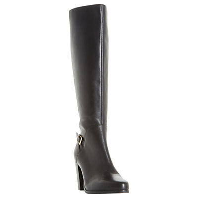 Product photo of Dune oaklee block heeled knee high boots black