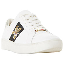 Buy Dune Ebie Embellished Lace Up Trainers, White Online at johnlewis.com
