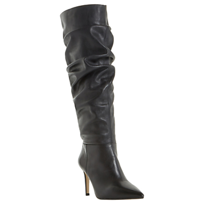 30 Off Dune Tero Knee High Boots Gt Burgundy Outlet