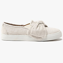 Buy John Lewis Erina Bow Slip On Trainers, Nude Online at johnlewis.com
