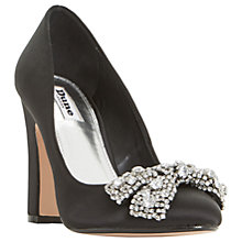 Buy Dune Bambi Block Heeled Embellished Court Shoes, Black Online at johnlewis.com