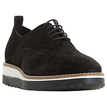 Buy Dune Fabrizio Flatform Brogues, Black Online at johnlewis.com