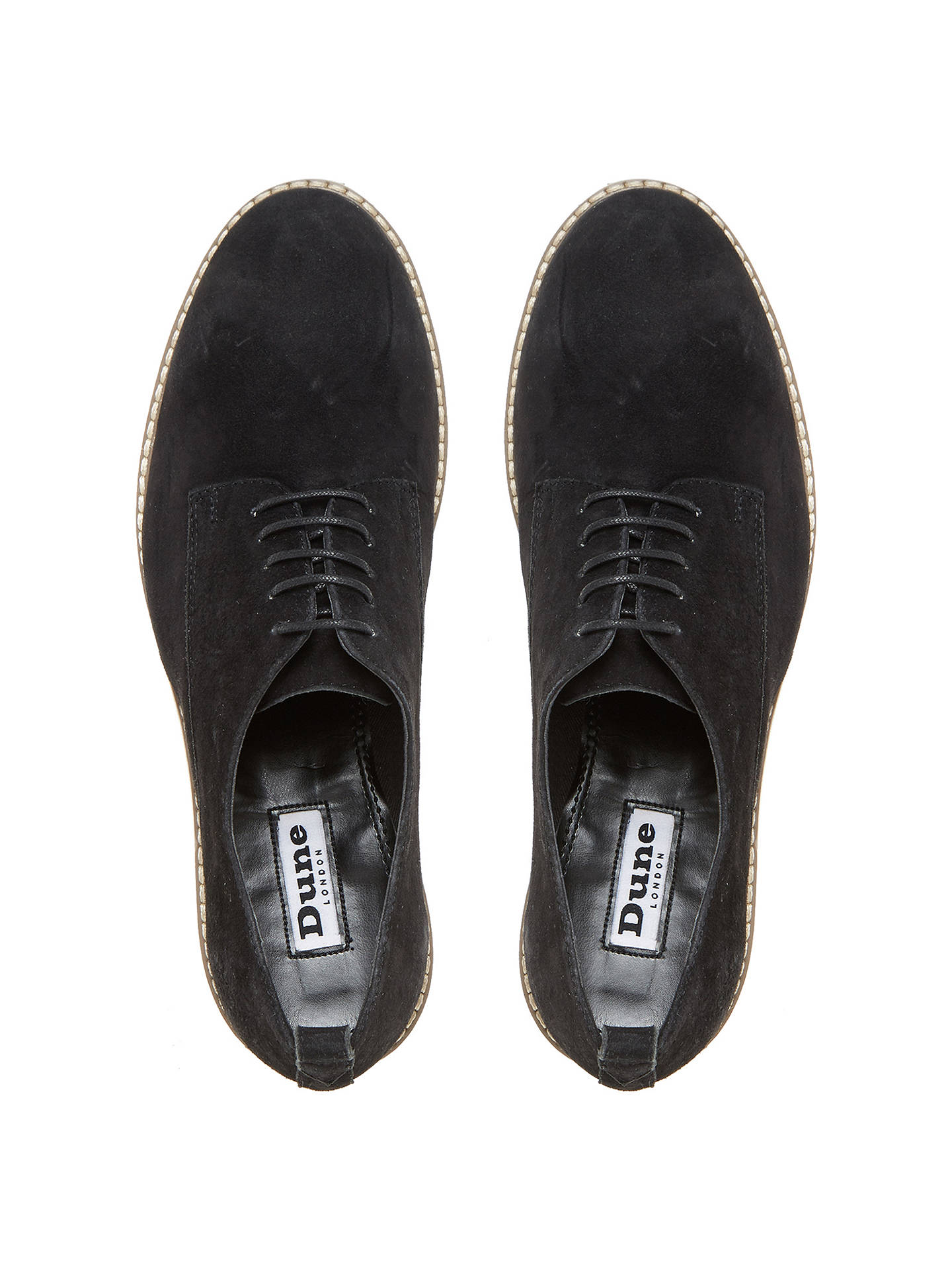 BuyDune Fabrizio Flatform Brogues, Black, 3 Online at johnlewis.com