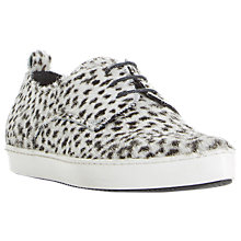 Buy Dune Black Frenche Pointed Lace Up Trainers Online at johnlewis.com
