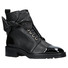 Buy Kurt Geiger Daze Bow Trim Lace Up Ankle Boots, Black Online at johnlewis.com