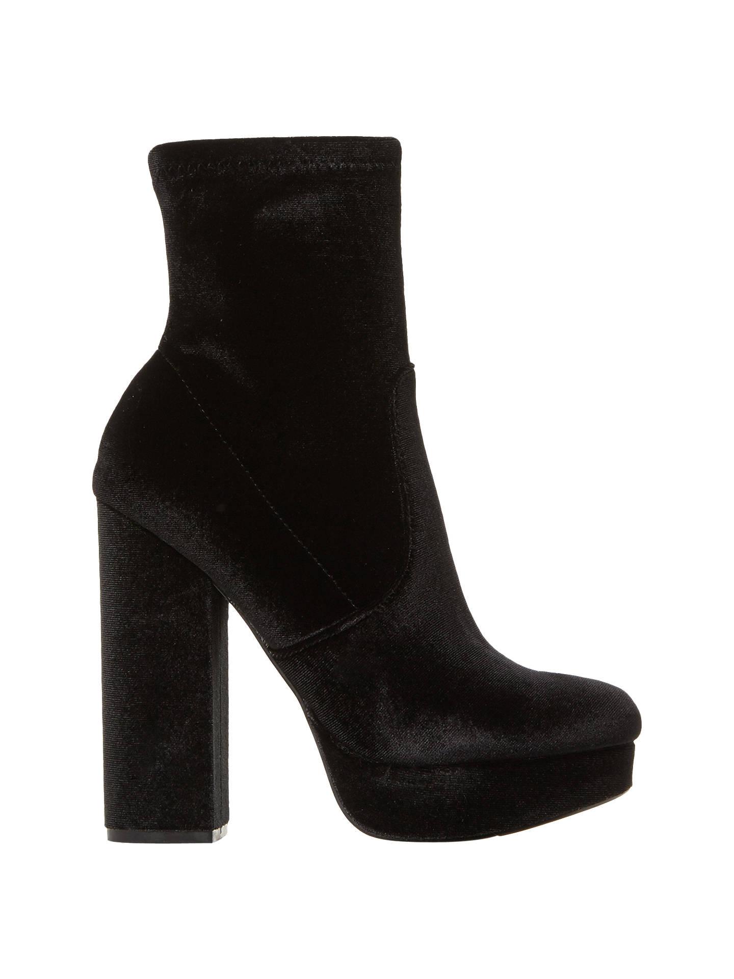 13bb231f5a0 Steve Madden Stardust Platform Block Heeled Ankle Boots, Black at ...